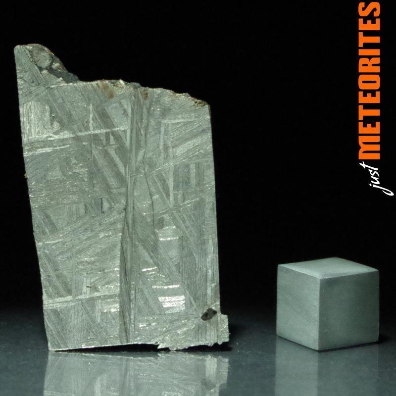 Muonionalusta meteorite slice 10.4g with shock fracture