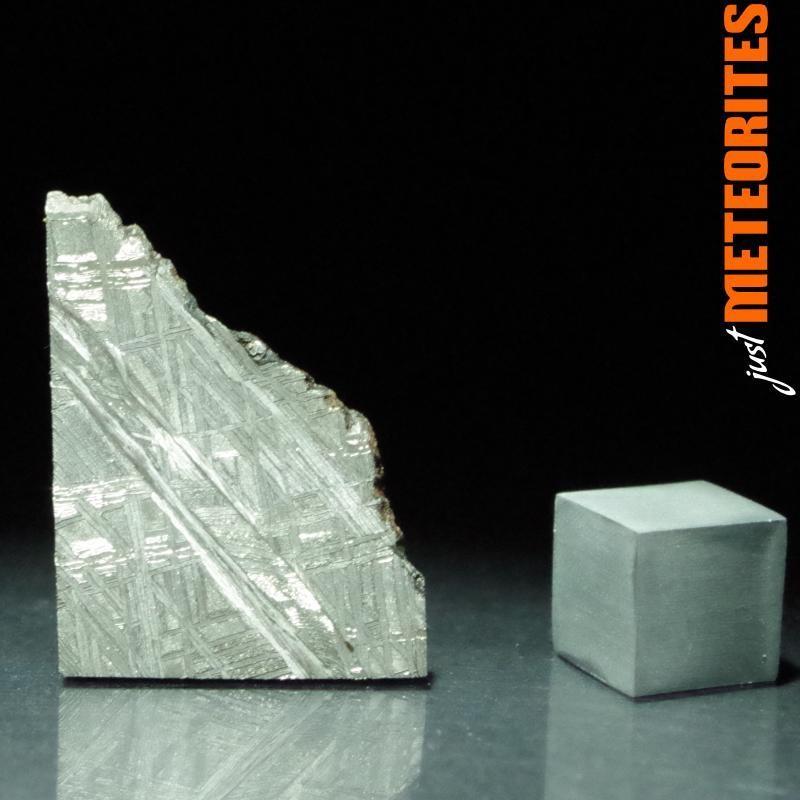 Muonionalusta meteorite slice 5.1g with shock fracture
